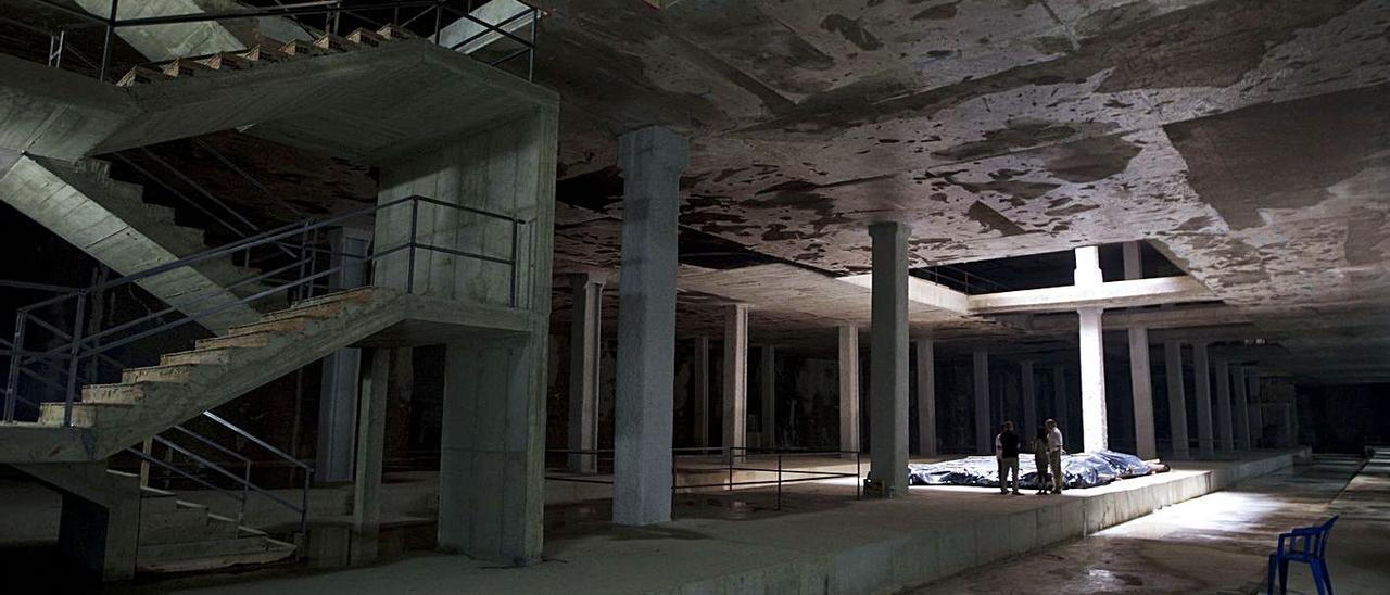 La inacabada estación del Mercat de la antigua T2 y actual L10. | F.B.