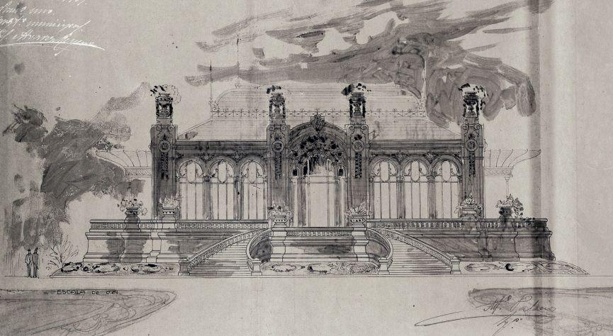 Alzado de Palacios del Pabellón del Recreo de Santiago 1908.jpg