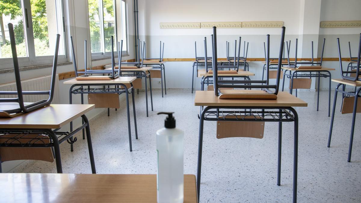 Un aula vacía en Ourense.