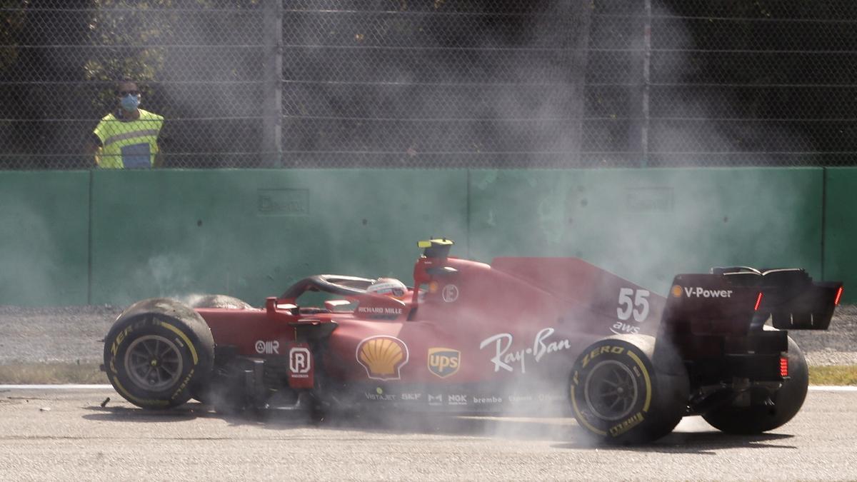 Carlos Sainz sufrió un pequeño percance, pero sin consecuencias.