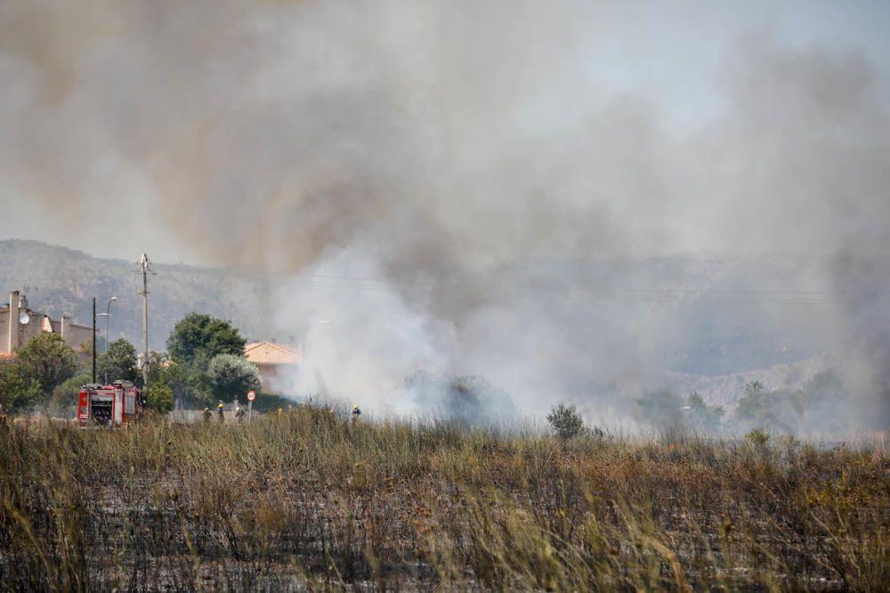 Brand am Kloster La Real im Norden von Palma