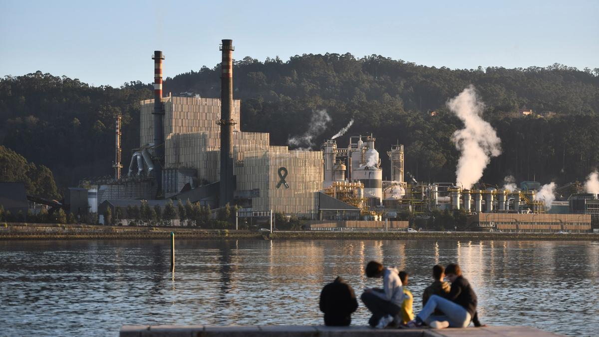 Fábrica de Ence en Lourizán, Pontevedra