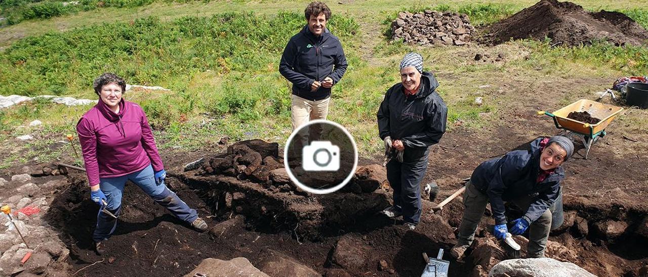 La excavación en el monte de O Castro