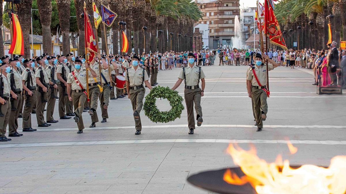 Militares de la BRI X durante la conmemoración de la Batalla da Bailén.