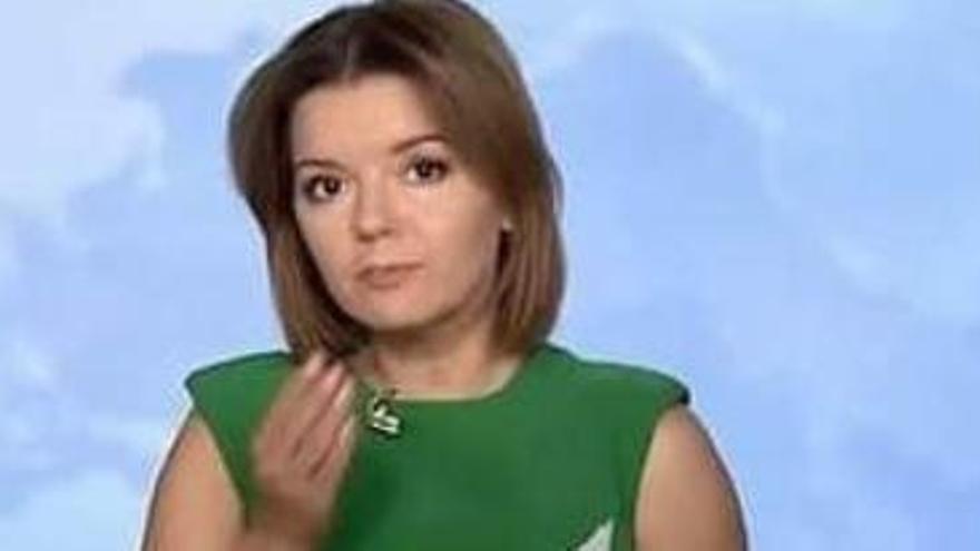 Así reacciona una periodista ucraniana al perder un diente en directo