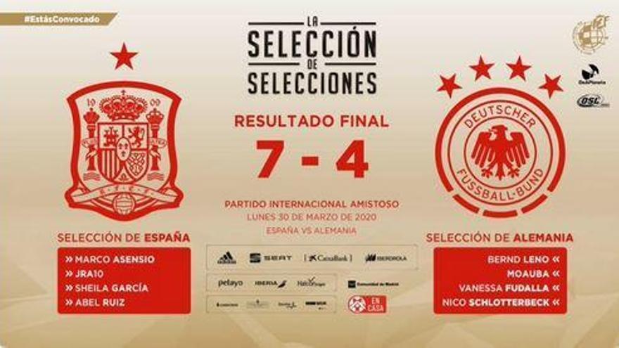España triunfa ante Alemania en eFootball