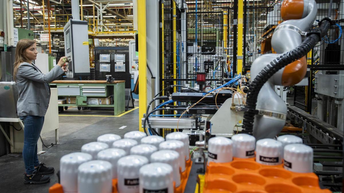 Interior de la factoría de Almussafes