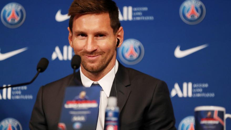 Messi: «Arribo al PSG per seguir creixent i guanyar títols»