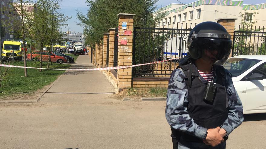 Al menos ocho muertos, incluidos siete niños, en un tiroteo en un colegio de la ciudad rusa de Kazán