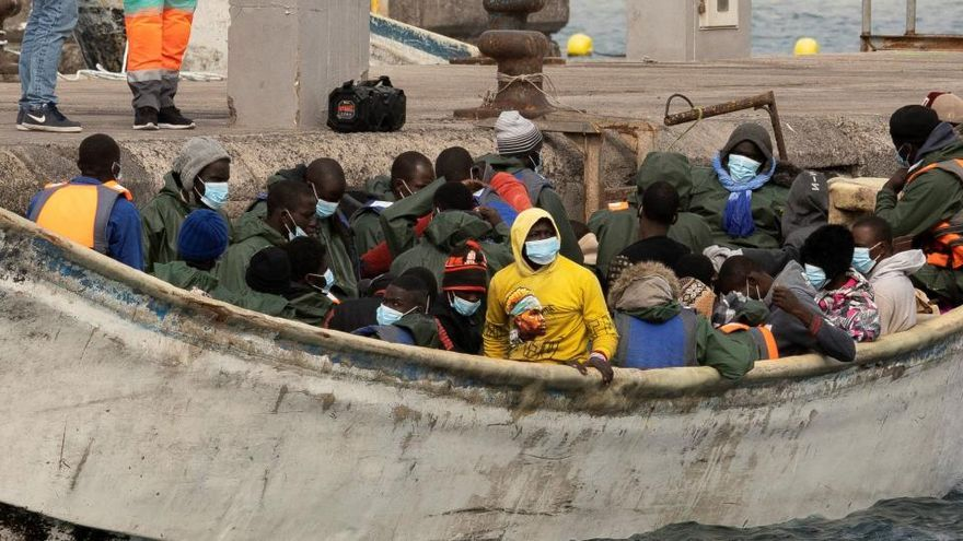 Canarias recibió un 234 % más de inmigrantes en los primeros 15 días de enero