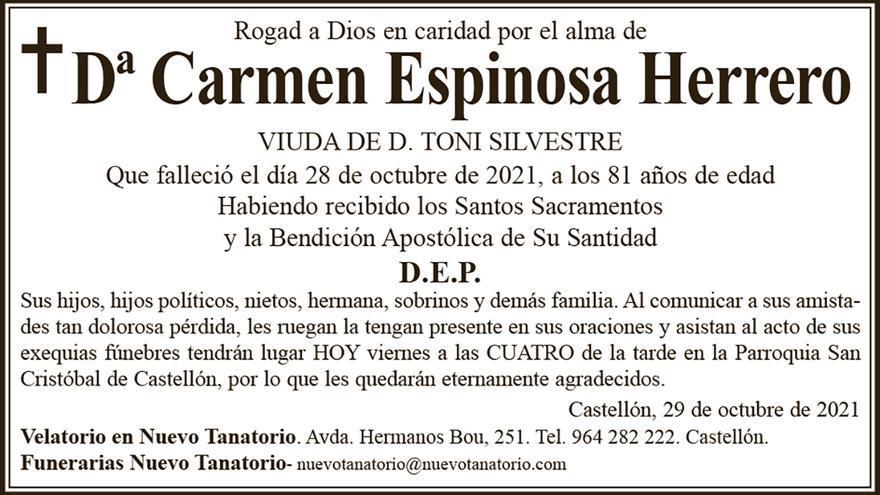 Dª Carmen Espinosa Herrero