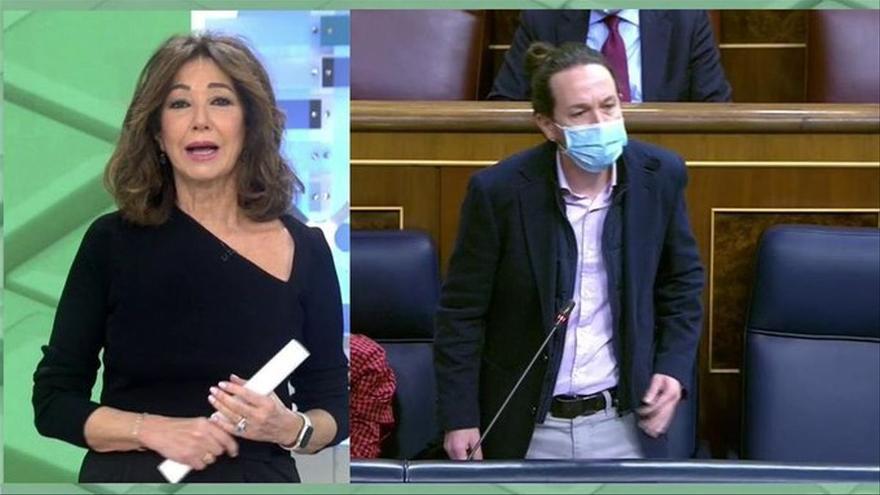 "Ana Rosa responde a Iglesias: ""A mí me eligen cada día y a usted le nombró Sánchez como vicepresidente"""