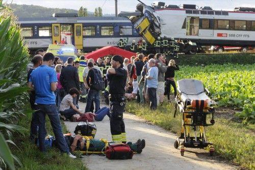 Choque de tren al oeste de Suiza.