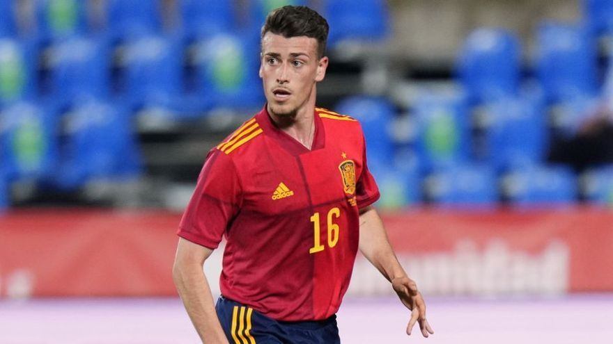 El montalbeño Antonio Blanco, con la selección de España sub-21