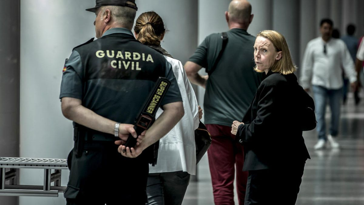 Rosa Barceló en la Ciudad de la Justicia, cuando estalló el caso Erial en mayo de 2018.