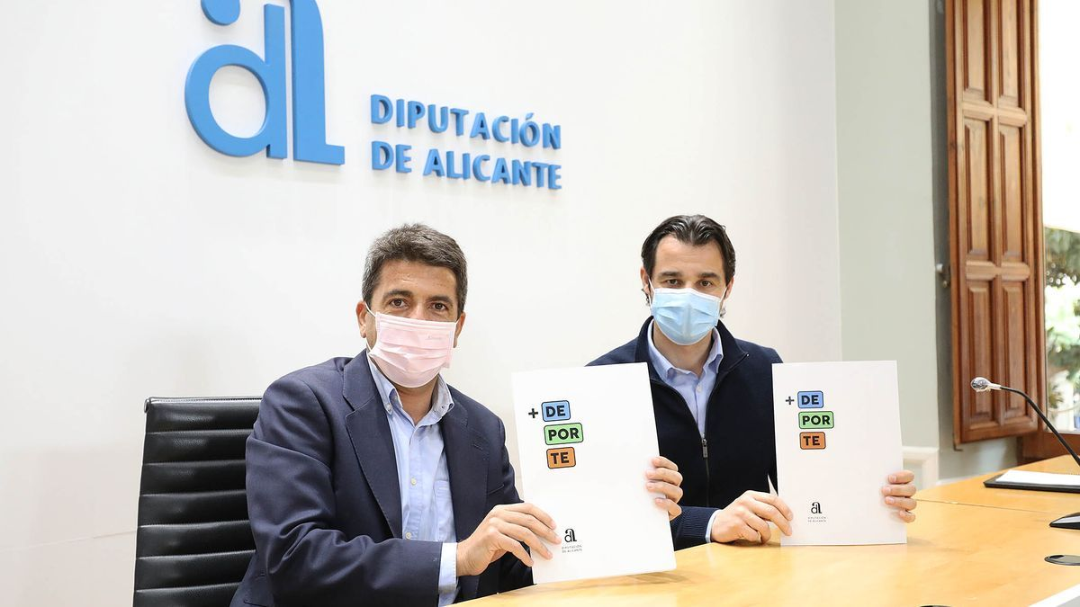 Official presentation of the Plan + Deporte in the Alicante Provincial Council.