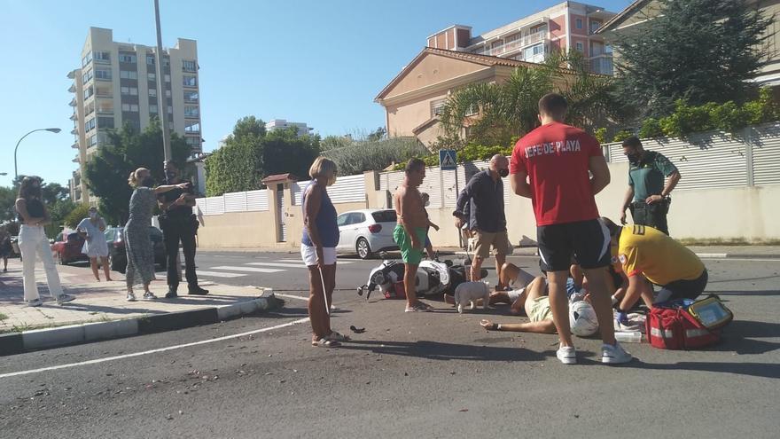 Dos motoristas heridos en un aparatoso choque en Benicàssim
