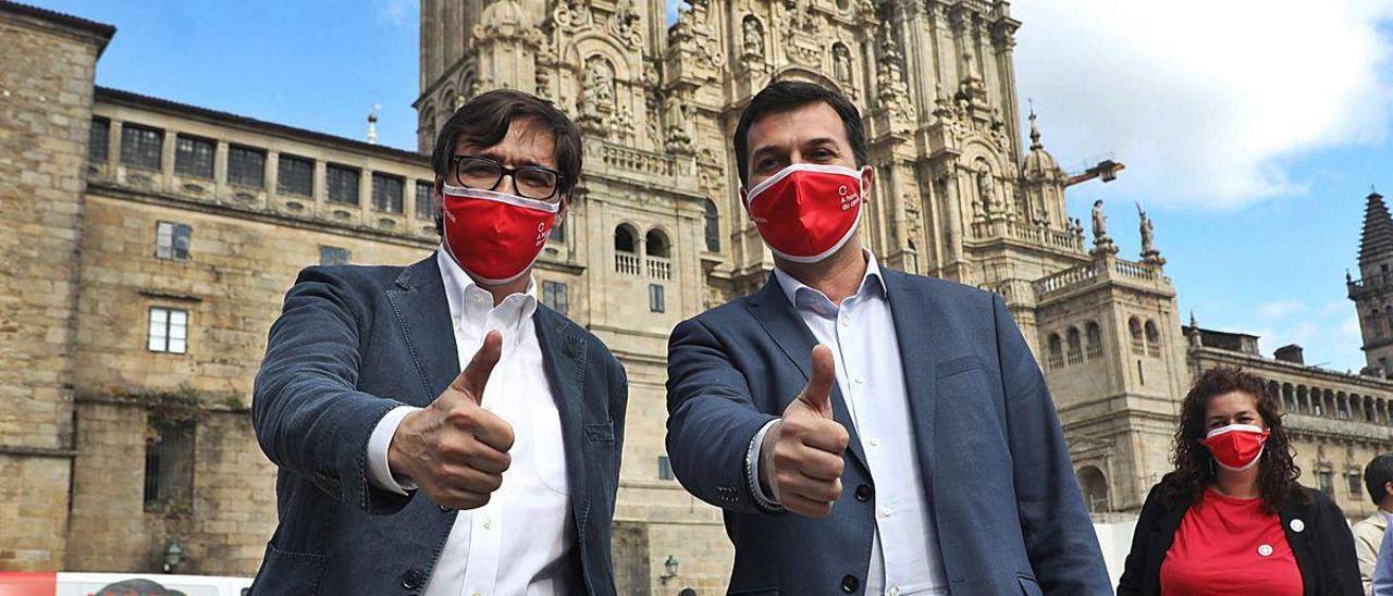 """Illa arropa a Caballero y pide romper la """"inercia"""" de gobiernos del PP en Galicia"""