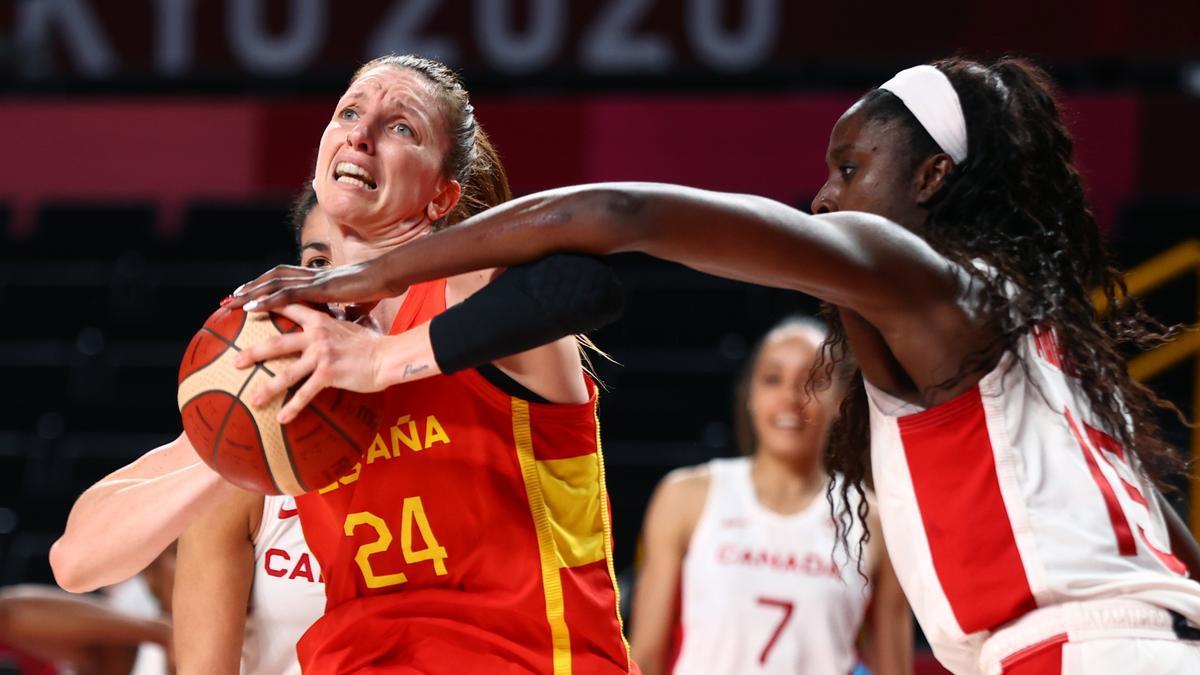 La ala-pívot de la selección española Laura Gil.