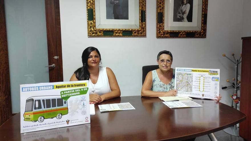 Aguilar de la Frontera estrena el servicio de autobús urbano