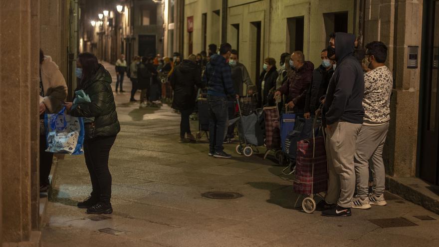 La pandemia dispara la pobreza severa en Galicia al nivel de la doble recesión de 2008