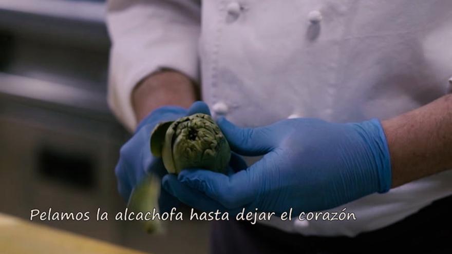 Ensalada de alcachofas de Benicarló por Modesto Fabregat, de Lino Restaurant