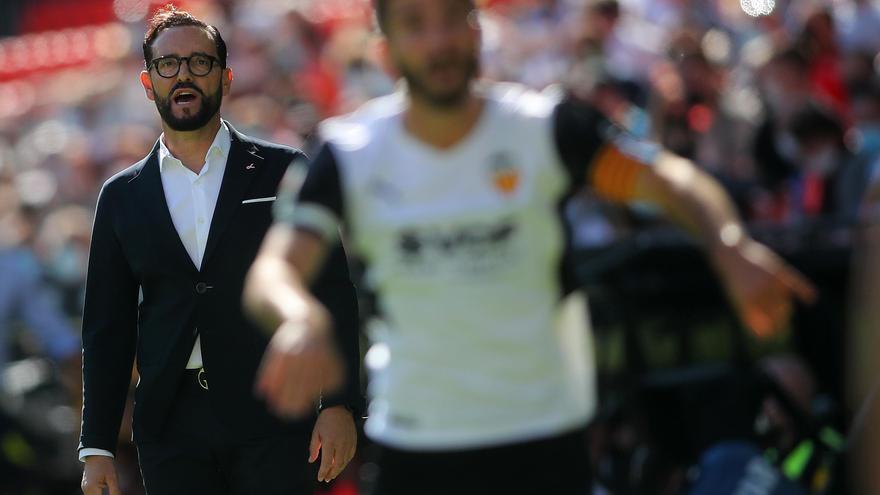 La reacción de Bordalás al empate del Valencia
