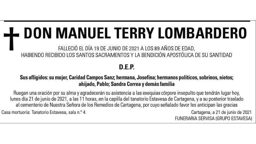 D. Manuel Terry Lombardero