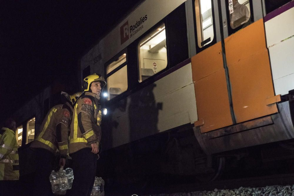 Accident entre dos trens entre Manresa i Sant Vicenç de Castellet