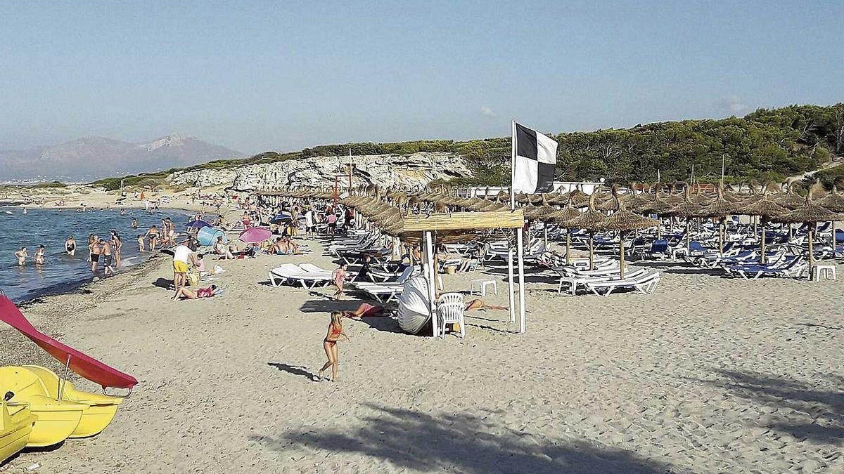 Imagen de la playa de SonBauló, donde estaba previsto conducir los emisarios desde la depuradora.
