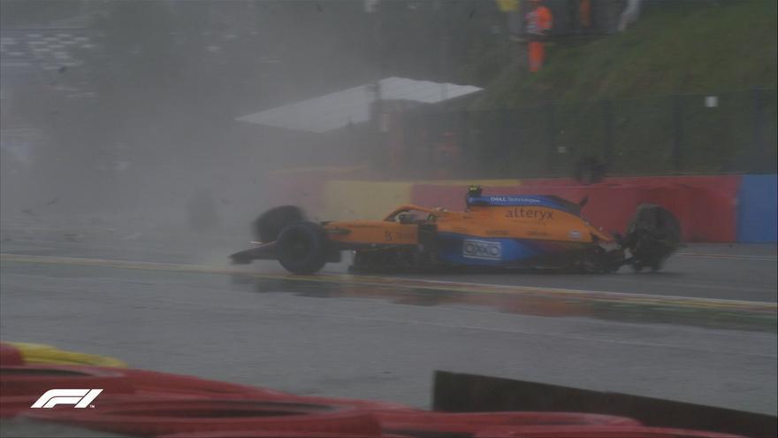 Lando Norris sufre un fortísimo accidente en la calificación de Fórmula 1 en Spa
