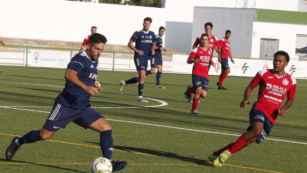 Un momento del partido disputado en Alberic.