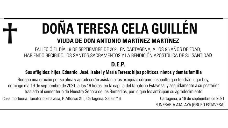 Dª Teresa Cela Guillén