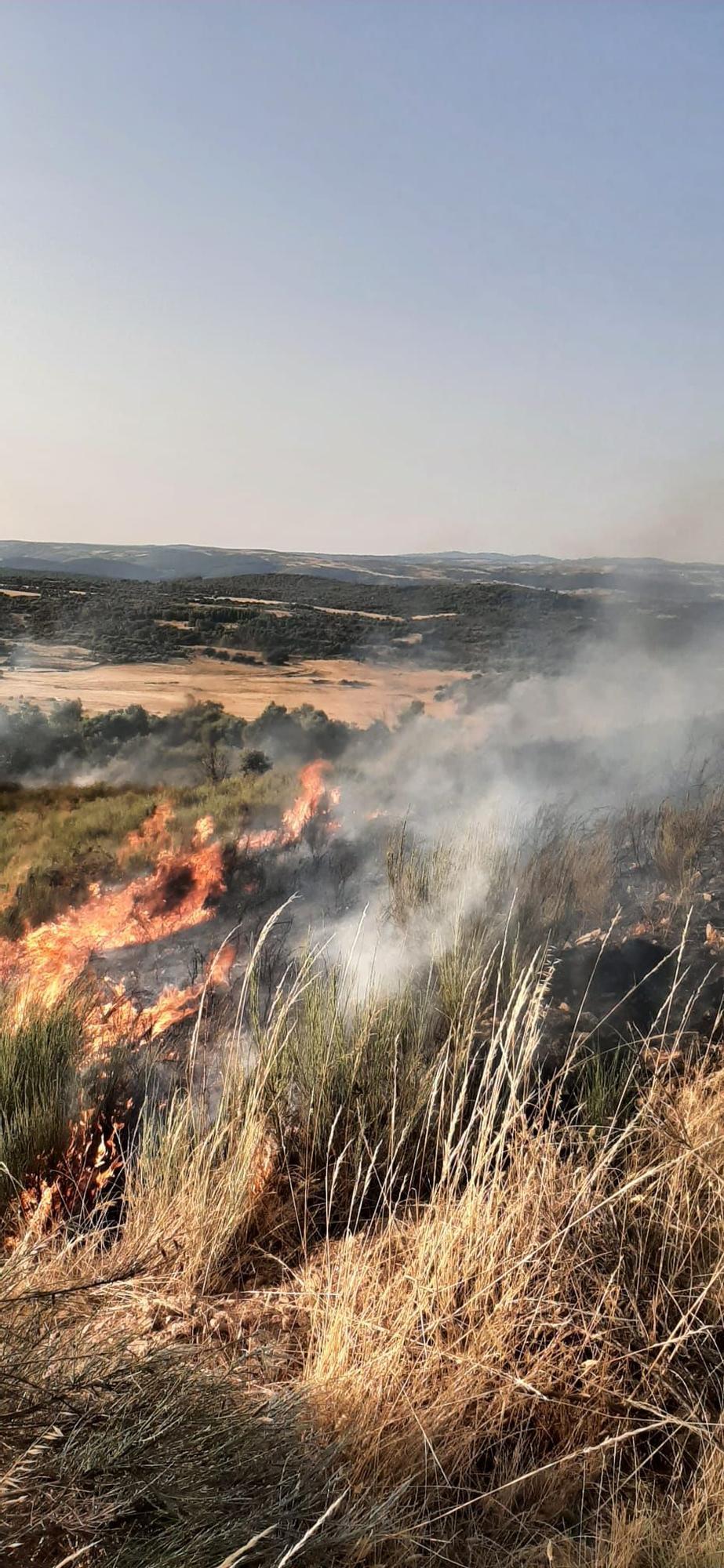 Incendio declarado en Figueruela de Abajo