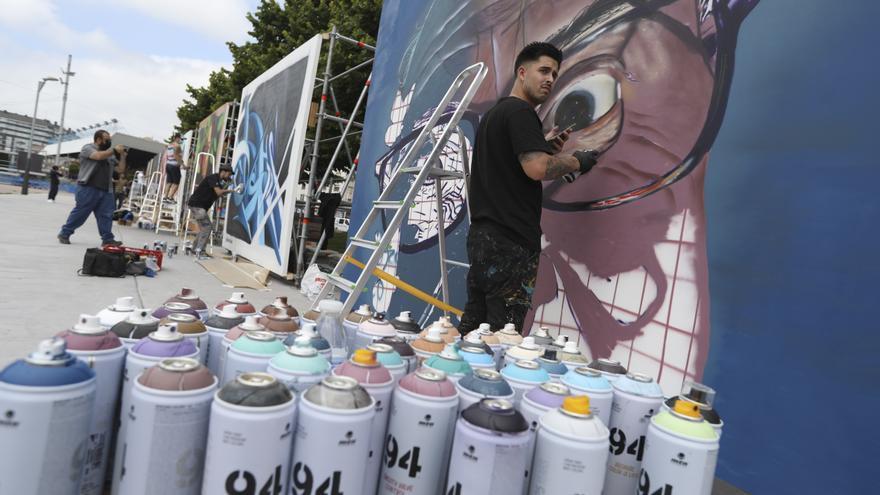 Avilés quiere convertirse en un referente del grafiti como Berlín, Sidney o Bristol