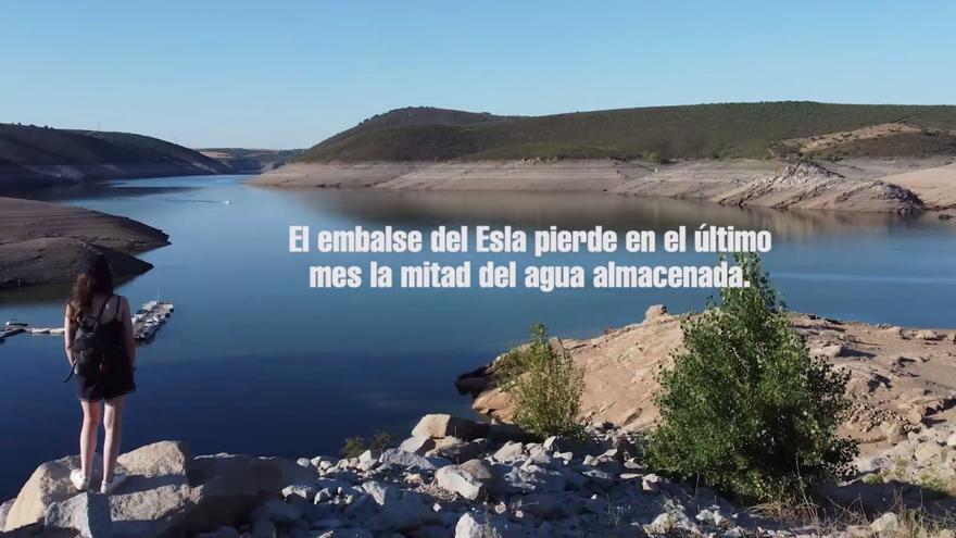 VÍDEO | El embalse de Ricobayo, seco