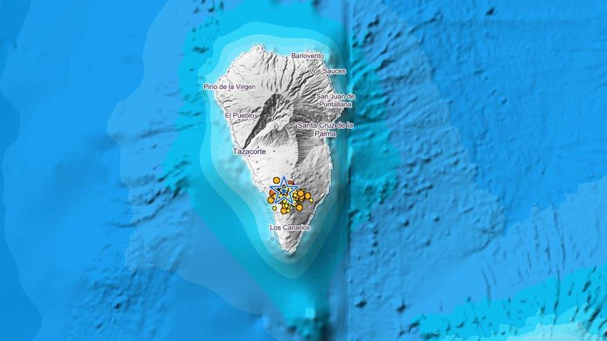 Más de un centenar de seísmos en La Palma este martes, uno de magnitud 3,9