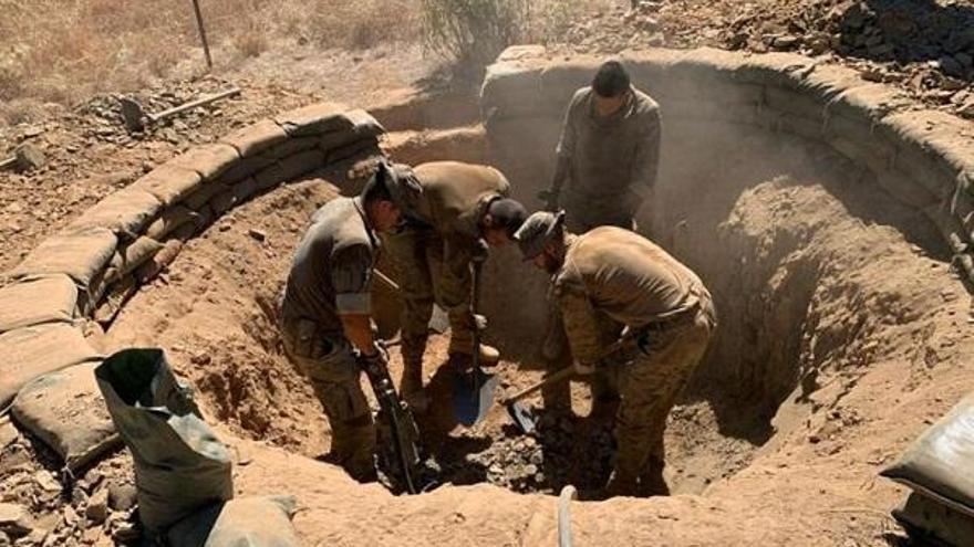 El Batallón de Zapadores X imparte instrucción sobre fortificación en la Brigada 'Guzmán el Bueno'