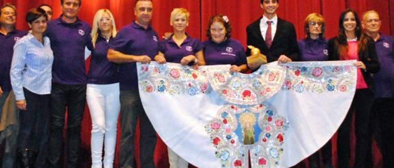 Los premiados de la Semana Taurina 2014, este viernes durante la ceremonia de entrega.