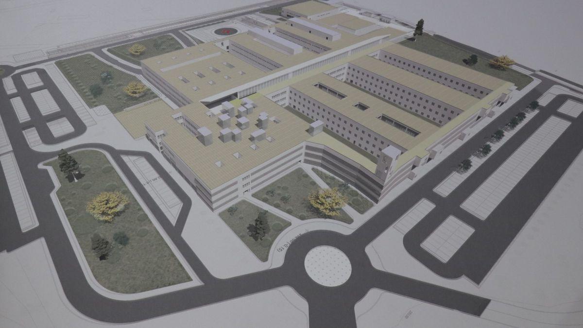 Maqueta del nuevo hospital de Don Benito-Villanueva.