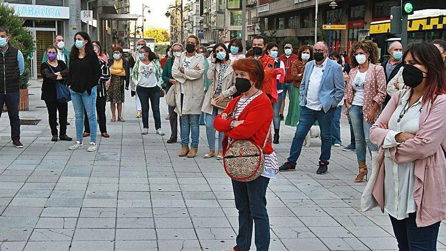 Ourense se concentró contra la violencia machista