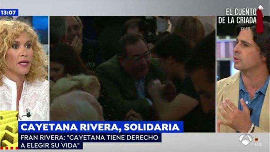 Fran Rivera se enfrenta a Cristina Fernández por defender a su hija