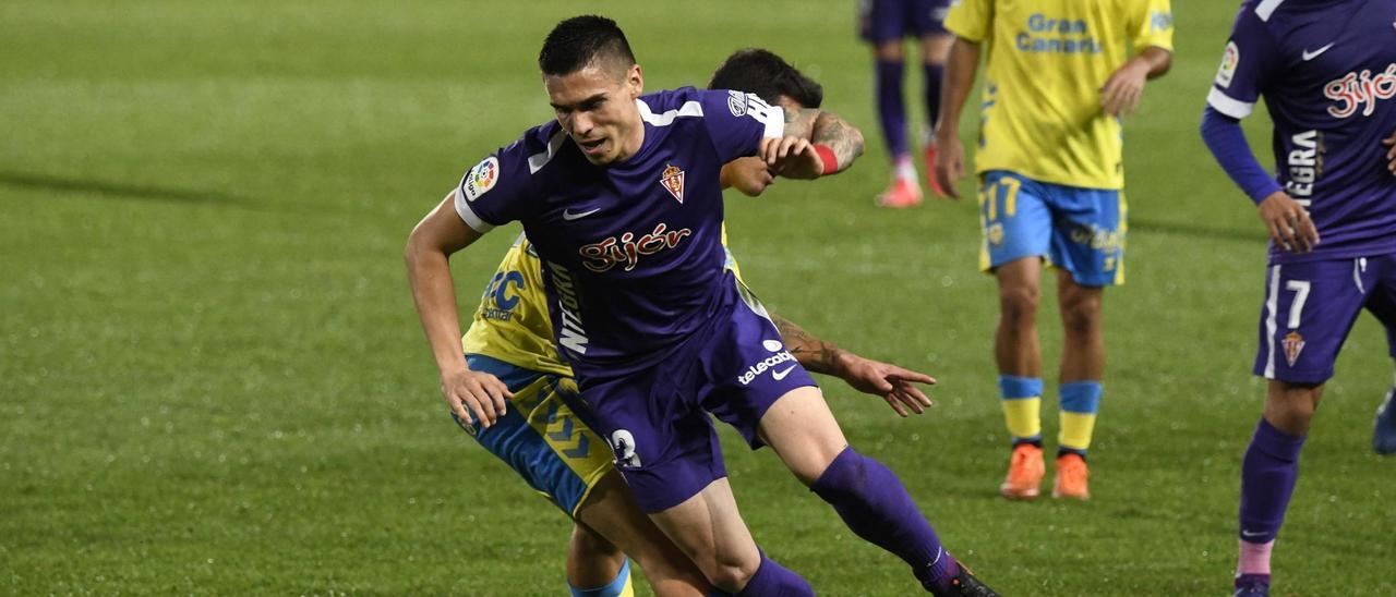 Djuka, en el partido Las Palmas-Sporting