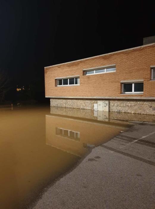 La zona del CAP de Torroella totalment inundada