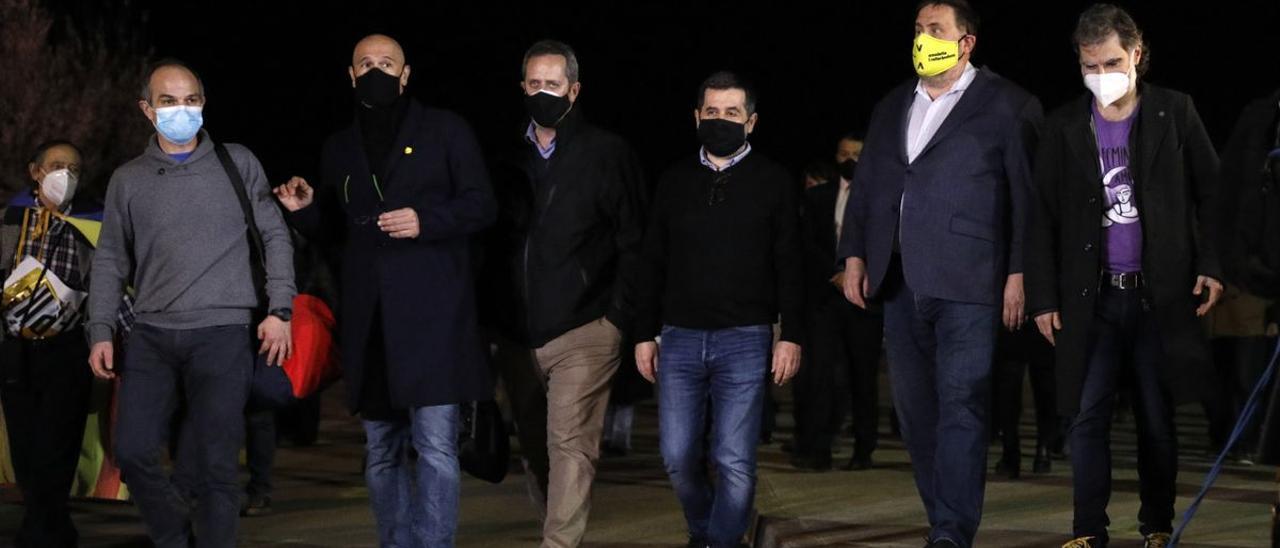 Algunos de los dirigentes del 1-O que pueden ser indultados por el Gobierno de Pedro Sánchez.