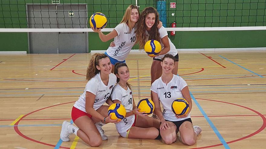 La selección española cadete de voleibol cita a cinco mallorquinas