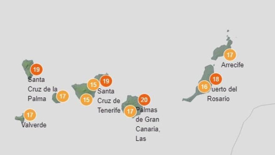 Lluvias y descenso de temperaturas en Canarias
