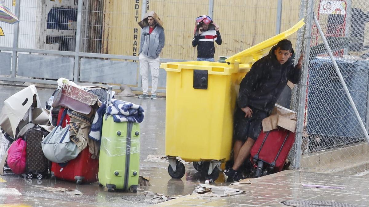 Las imágenes de los altercados en el Puerto de Alicante por el ferry a Orán