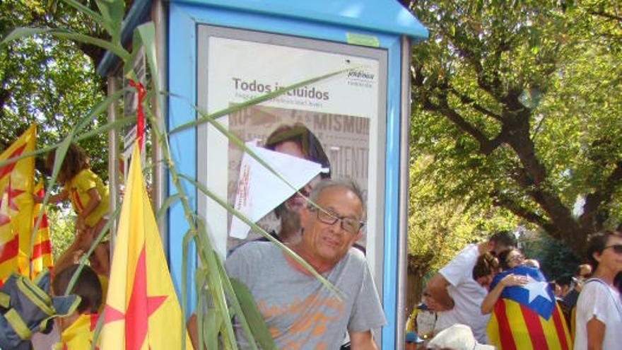Centenars de bagencs participen a la Diada a Berga