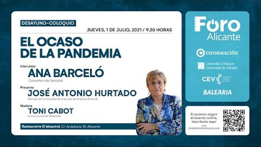 Ana Barceló aborda la situación de la pandemia en el Foro de INFORMACIÓN